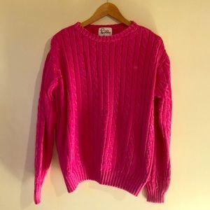 Lily Pulitzer Magenta Sweater sz XL